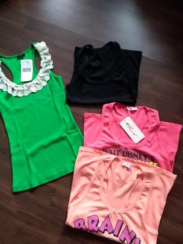 Cetiri-majice - Srbija: Ženske atlet majice- Novo. Četiri majice za jednu cenu