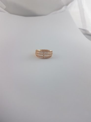 Кольца из красного золота 585проба Вставка циркон Размер кольца 21.0 в Бишкек