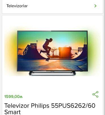Televizor Philips 55PUS6262/60 Smart Budcenize uyğun