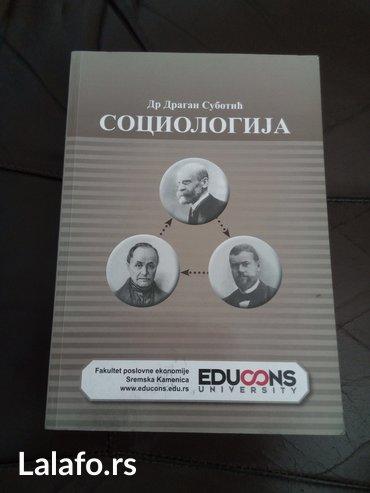Sociologija, dr Dragan Subotić, Univerzitet Edukons Sremska Kamenica. - Novi Sad