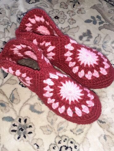 Женская обувь - Теплоключенка: Продаю вязаные Мужские,женские, детские туфли из тёплой шерстяных нит