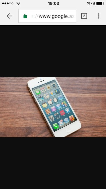 Gəncə şəhərində Iphone 5 yep yeni veziyyetde.cizigi zad yoxdu .karopka ve adaptr veril