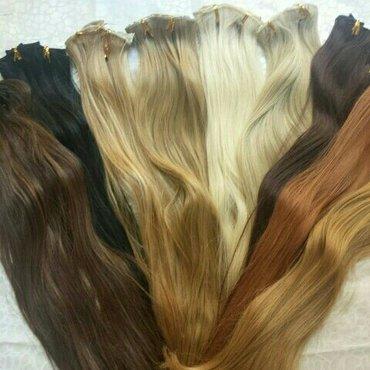 Ekstenzije za kosu na klipse u svim bojama i nijansama. Dužina 65 cm. - Pancevo