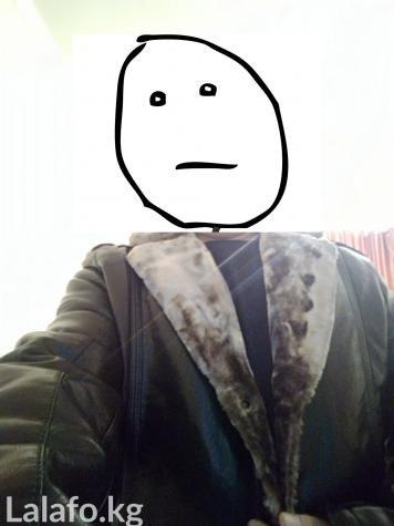 Кожаная куртка. Куртку покупал для себя. Мой размер:  рост 168 см, Пле в Бишкек