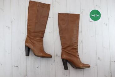 Жіночі чоботи, р. 37    Довжина підошви: 22 см Висота підбора: 9 см Ви
