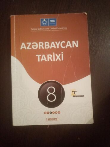 Az. Tarixi 8ci sinif test toplusu. 2013 nəşriyyatlıdır.təmizdir.əsasən