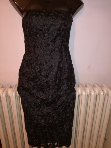Od-haljina-cipke - Srbija: Predobra haljina cela od cvrste cipke i satenskom postavom,vel:S-M,gr