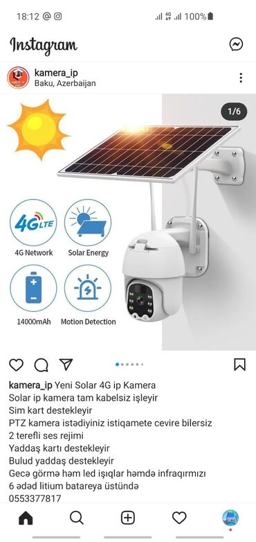 Solar 4G IP Kamera 1080HD (wifi camera) 📢Yeni Solar 4G IP Kamera 🎥Sola