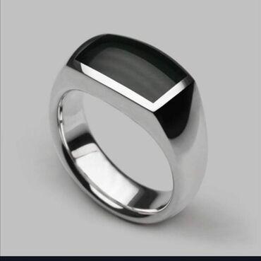 Muško prstenje od oniksa ne menja boju i ne rdja cena 900 din