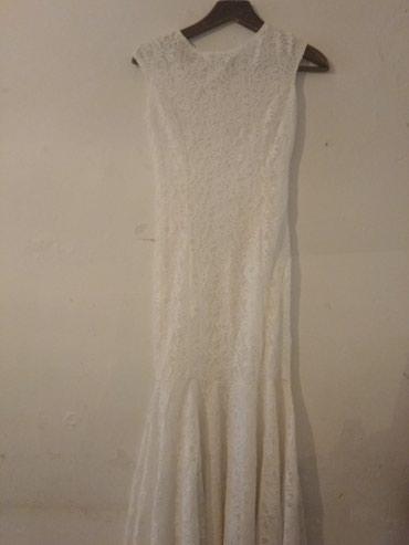 вечернее платье русалочка в Кыргызстан: Продаю кружевное платье, можно как свадебное так и как вечерное типа