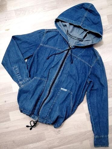 Baggy teksas jakna sa kapuljačom - vel. L!   Duža šira jakna od skroz
