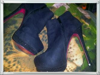 Nove duboke cipele čizmice sa cirkonima bas kvalitetne i udobne br - Crvenka