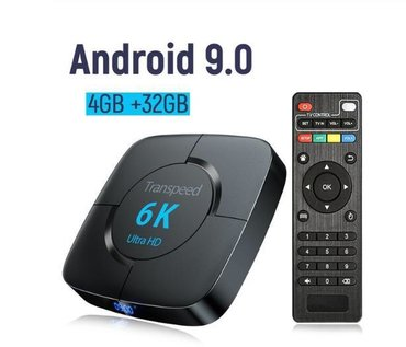 Android tv box  model:Transpeed 6k Android 9.0 Ram:4 gb Rom:32 gb  Q