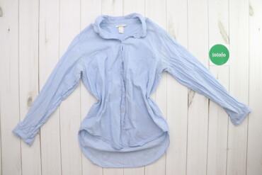 Рубашки и блузы - Цвет: Голубой - Киев: Жіноча сорочка з подовженою спинкою H&M, p. S    Довжина: 62/72 см