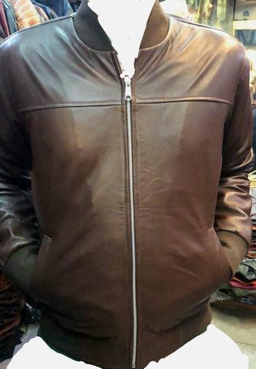 Кожаные мужские куртки. бомбер новые. в Лебединовка