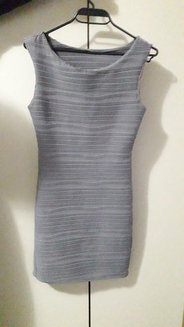 Haljine   Lebane: Nova siva haljina, steznog materijala