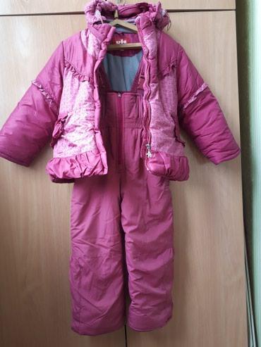 Зимние куртка и штаны для девочки 6-7 лет, рост 122 см. фирма крош в Бишкек