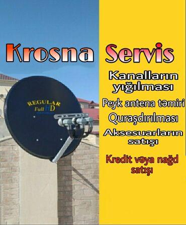 Proyektorlar - Azərbaycan: Krosna Servis. Krosna ustasi Kanalların yığılmasıÇanaq anten