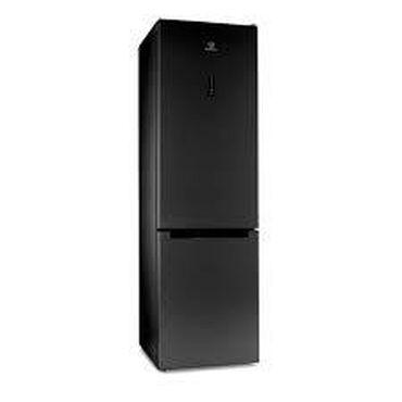 Новый Двухкамерный Черный холодильник Indesit
