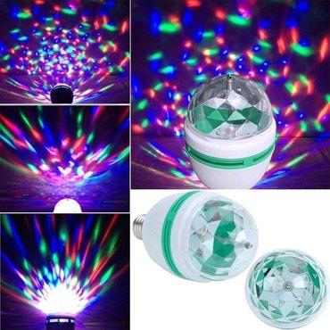 Kućni dekor - Bela Palanka: Rotaciona RGB Led Disko Sijalica E27Idealna sijalica za vase zurke