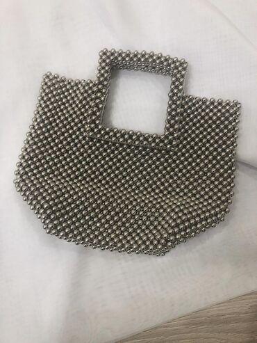 """Серебряная сумка """"Grey Pearl"""" Доставка по городу Бишкек"""