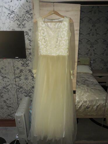 свадебные платья хиджаб в Кыргызстан: Продаю платье сшито на заказ. Одевала 1 раз на своей Кыз