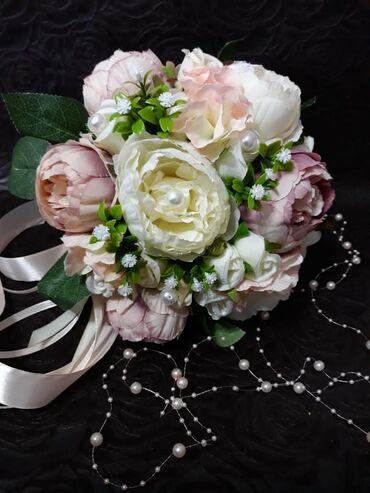 1808 объявлений: Свадебные букеты из декоративных цветов. В наличии и на заказ. Соберу