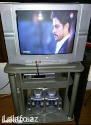 Şəki şəhərində Sanyo markali televizor. Temiz gosterir, hec vaxt remontda olmayib,