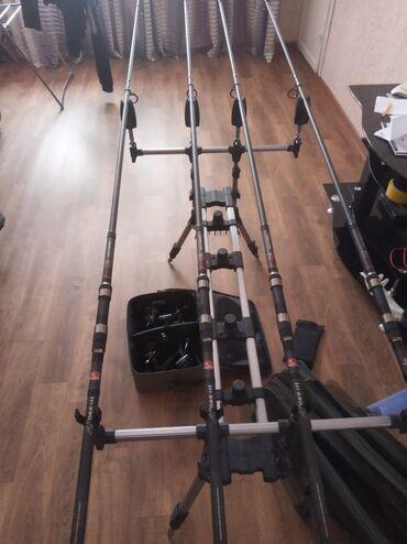 Карповые комплект 4 палки 3.90 катушки 0 Ред под подхват карповый