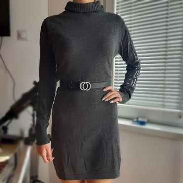 Haljina st - Srbija: Nova džemper haljina, tamno sive boja. Prelepo stoji i nije skroz