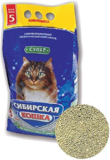 домик туалет для кошек в Кыргызстан: Напонитель для кошек Комкующийся, впитывает запах Обьем 5л