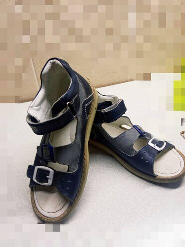 Ортопедические сандали для мальчика 30рамер, кожанные, состояние