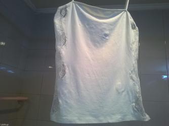 Μπλουζάκι λευκό με δαντέλα intimissimi, 84% micromodal 10% poliammide