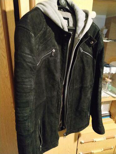 Kozna jakna, sa kapuljacom na skidanje, ruska kragna, Angelo Litrico