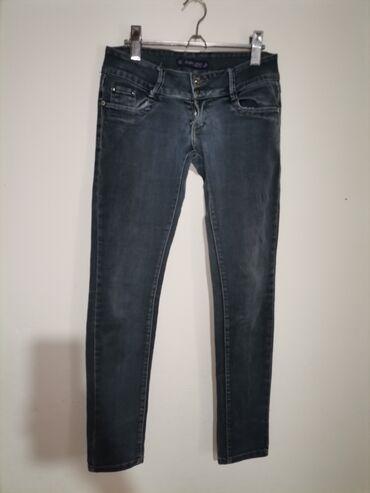 Pink jeans farmerke - Srbija: Farmerice M bez ikakvih ostecenja Mere Poluobim struka 38 cm. Duzina c