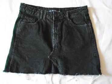 Odlična mini suknjica Sinsay od tamnog teksasa, 100% pamuk, sa - Belgrade