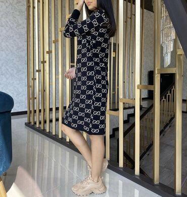 тунику платье в Кыргызстан: Трикотажное, тёплое платье Есть ещё расцветки С этим же принтом ест