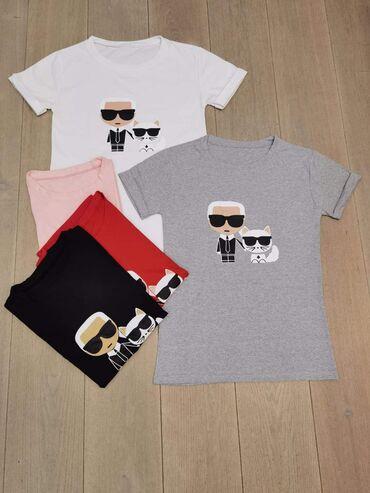 Ženske majice - Novo - Sivac: 2 za 1500 Pamuk elastin