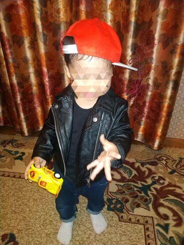 Детский мир - Тынчтык: Кожаная детская куртка примерно 1.5 2.5 годик. Отдам за 700 купили на