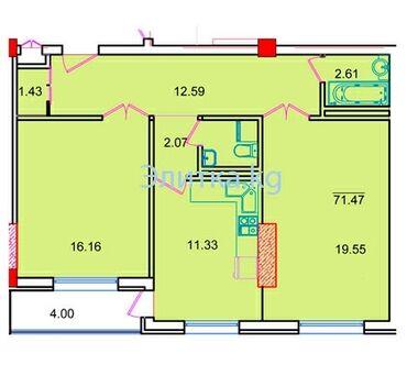 Продается квартира: 2 комнаты, 71 кв. м