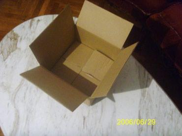 Kartonska kutija od troslojnog kartona dimenzije: D/S/V--20x20x10cm - Beograd - slika 2