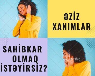 İdman və istirahət - Ceyranbatan: Xanımlar üçün evden çıxmadan çalışmaqimkanı.Evdar xanımlar, ikinci iş