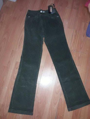 Ženska odeća | Cuprija: Nove somatne pantalone Prelepe Zeleno maslinaste boje Vel s Zvonarice