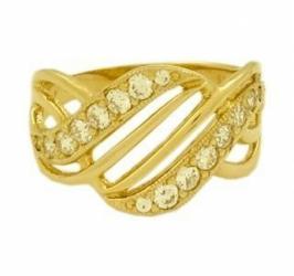 кольцо из жёлтого золота с цирконами в Бишкек