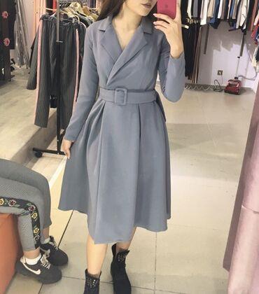 платье миди в Кыргызстан: Нежное платье длина миди  Отлично для корпоративов  Материал добротный