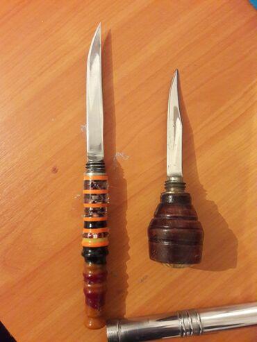 Коллекционные ножи - Кыргызстан: Ножи. Первый рукоятка на камчу, второй рычаг механической коробки