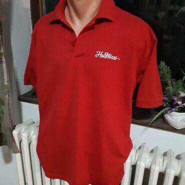 Crvena polo majca od pike pamuka,vel XL, poluobim preko grudi 60 cm