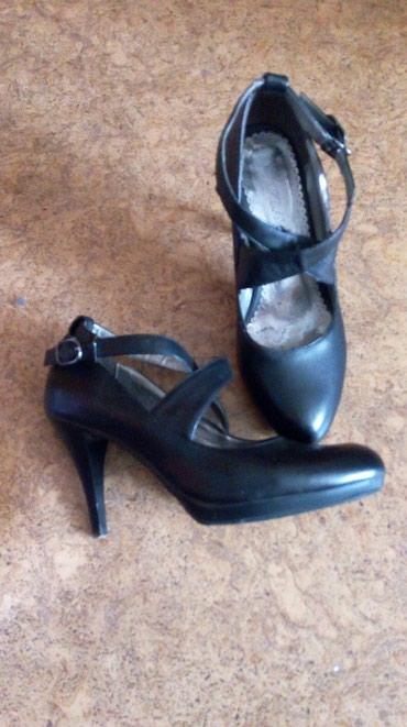Туфли, пресованая кожа, размер 39. каблук 9 см в Бишкек