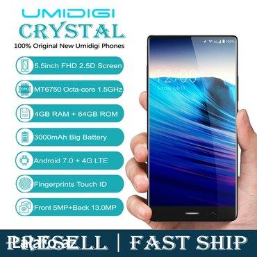 Gəncə şəhərində Umidigi crystal   versiya-android 7. 0  sim kart-micro+nano sim  arxa