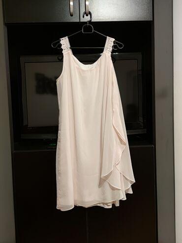 350 oglasa: Elegantna haljina svetlo roze boje, dužina 95cm, postavljena (nije pro
